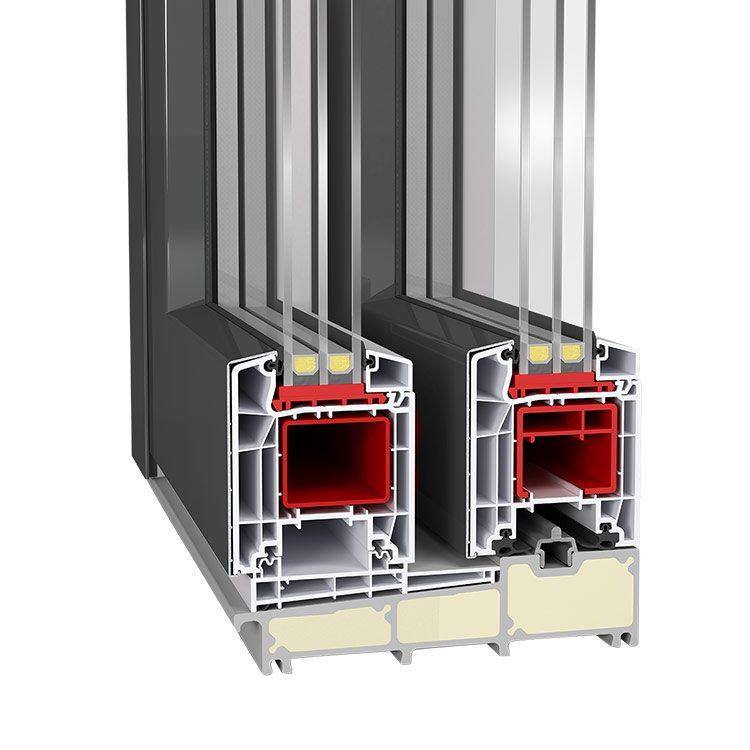 Aluclad upvc lift and slide doors neuffer for Lift and slide doors cost