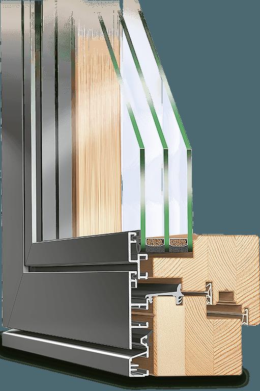 ECO Plano Holz Alu Fenster zum Kosten sparen   neuffer.de