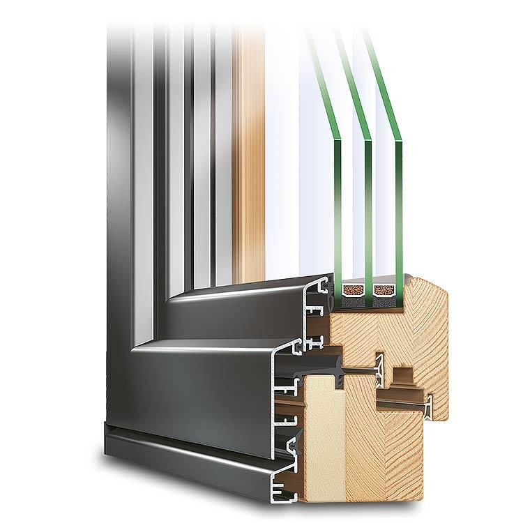 Eco plano holz alu fenster zum kosten sparen for Holz aluminium fenster