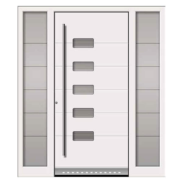 Aluminium front doors in beautiful modern designs neuffer for White front door with glass