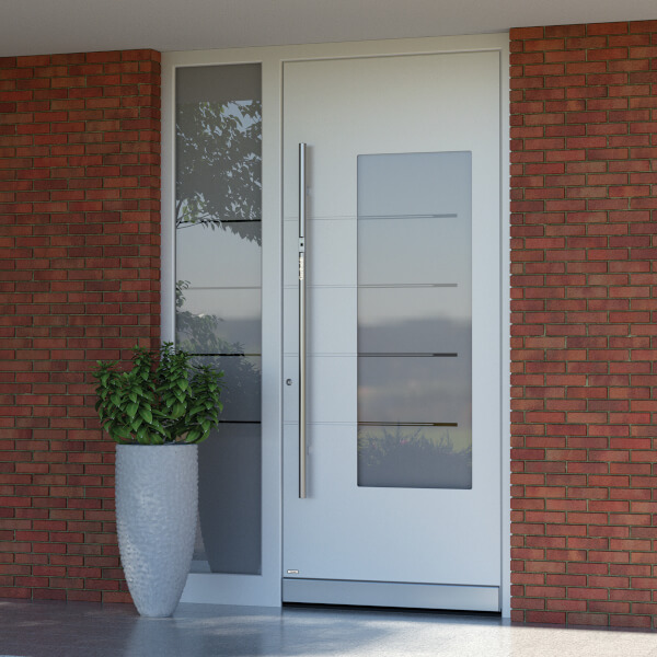 Front Door with Sidelights in wood, uPVC with security locks » buy ...