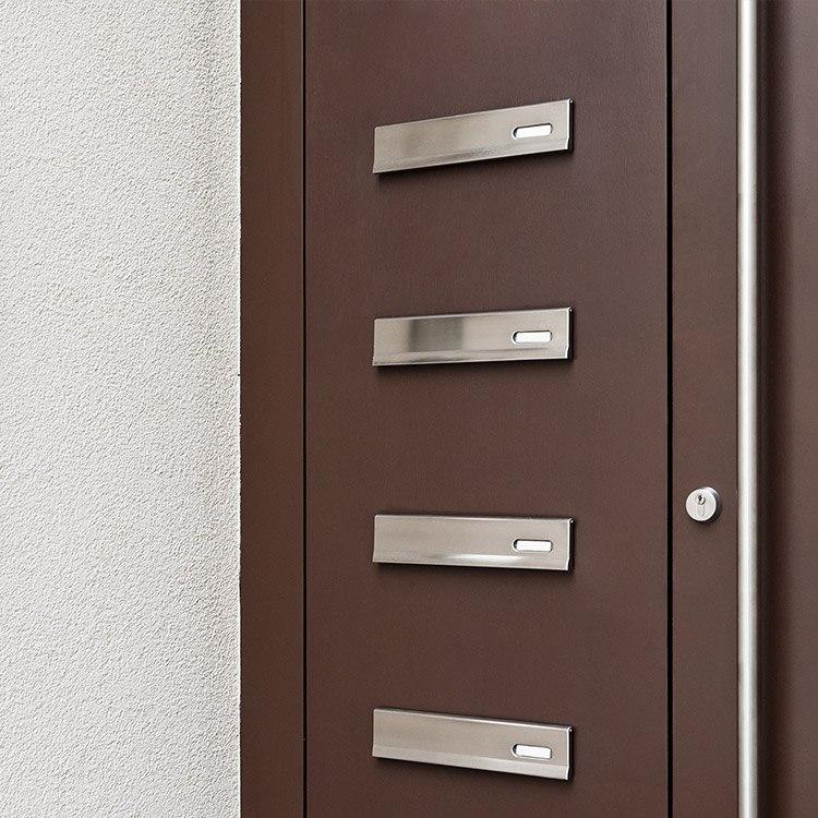 haust r mit briefkasten im seitenteil integriert kaufen. Black Bedroom Furniture Sets. Home Design Ideas