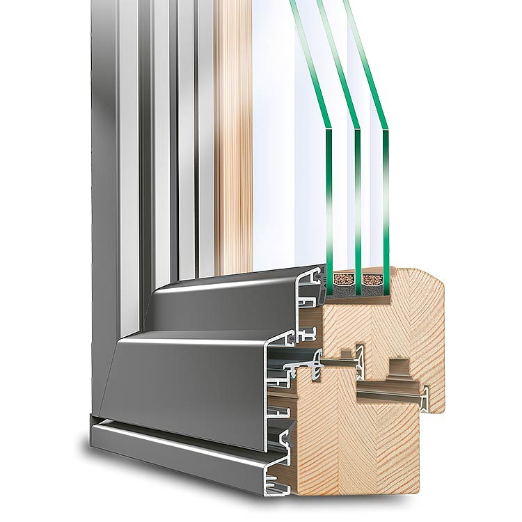 Idealu aluminium clad timber windows neuffer for Unilux fenster