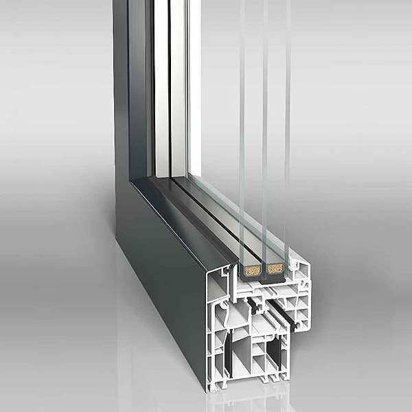Aluclad uPVC Twinset Energeto View Window Profile Closed
